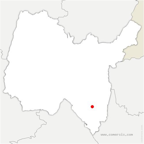 carte de localisation de Cheignieu-la-Balme
