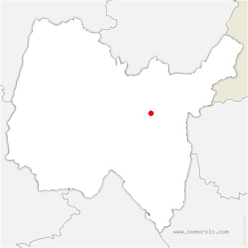 carte de localisation de Chevillard