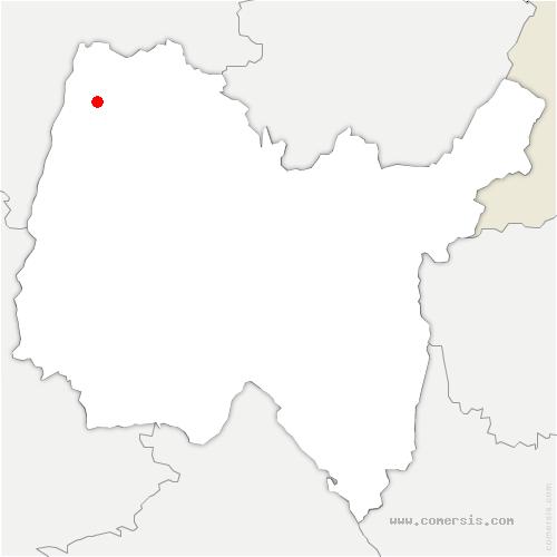 carte de localisation de Chevroux