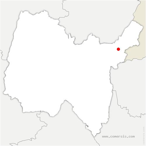 carte de localisation de Chézery-Forens