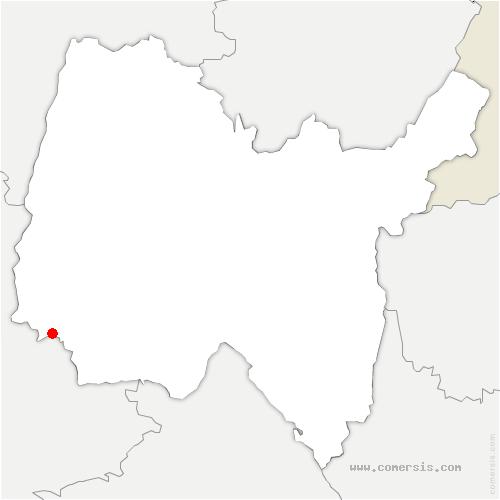 carte de localisation de Civrieux