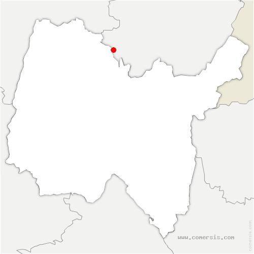 carte de localisation de Coligny