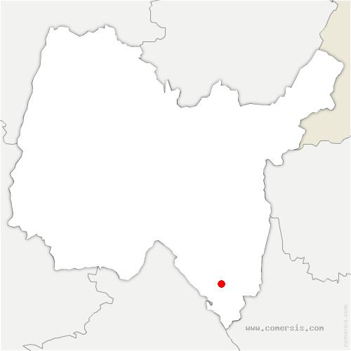 carte de localisation de Colomieu