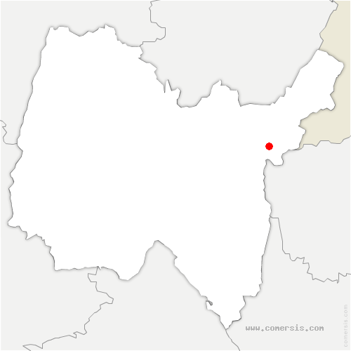 carte de localisation de Confort