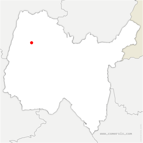 carte de localisation de Confrançon