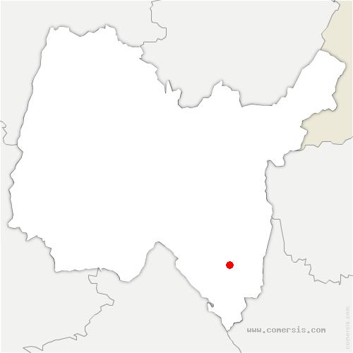 carte de localisation de Contrevoz