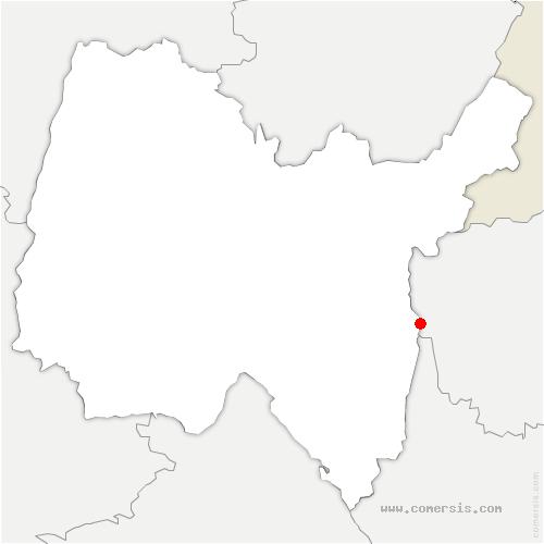 carte de localisation de Corbonod