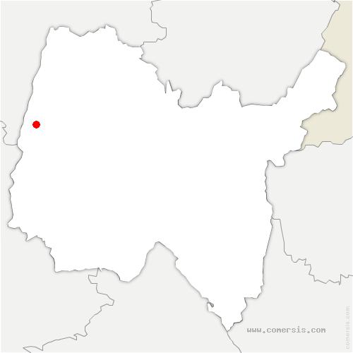 carte de localisation de Cormoranche-sur-Saône