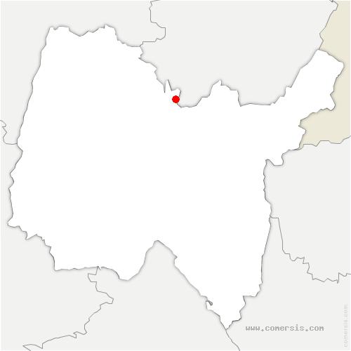 carte de localisation de Corveissiat