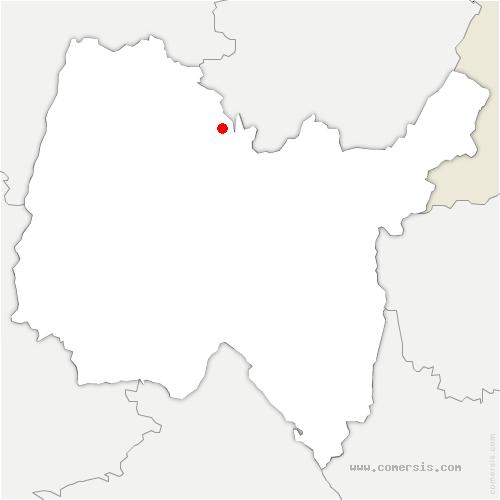 carte de localisation de Courmangoux