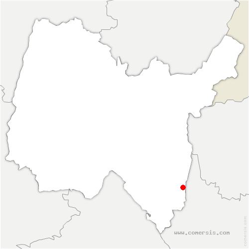 carte de localisation de Cressin-Rochefort