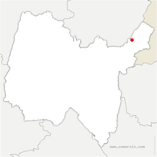 carte de localisation de Crozet