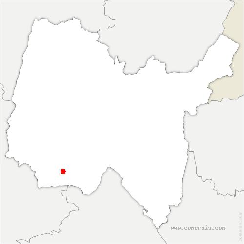 carte de localisation de Dagneux