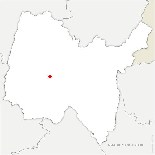 carte de localisation de Dompierre-sur-Veyle