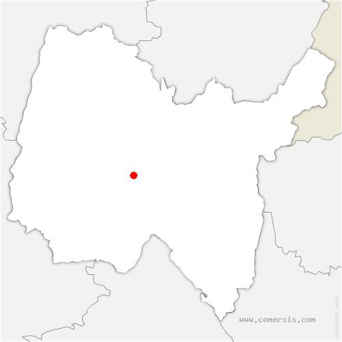 carte de localisation de Druillat