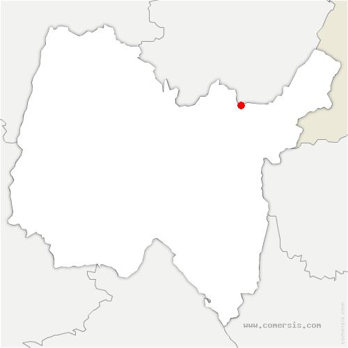 carte de localisation de Échallon