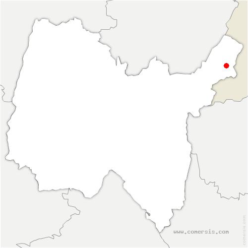 carte de localisation de Échenevex