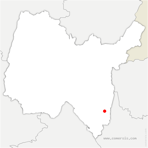 carte de localisation de Flaxieu