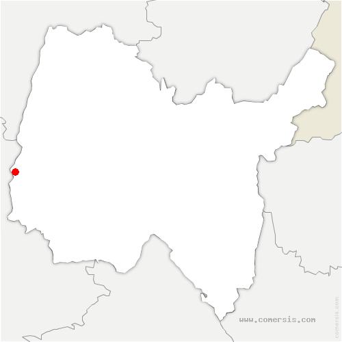 carte de localisation de Francheleins