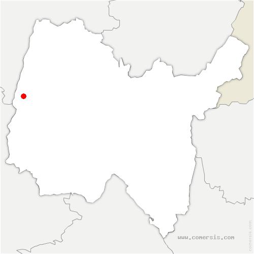 carte de localisation de Garnerans