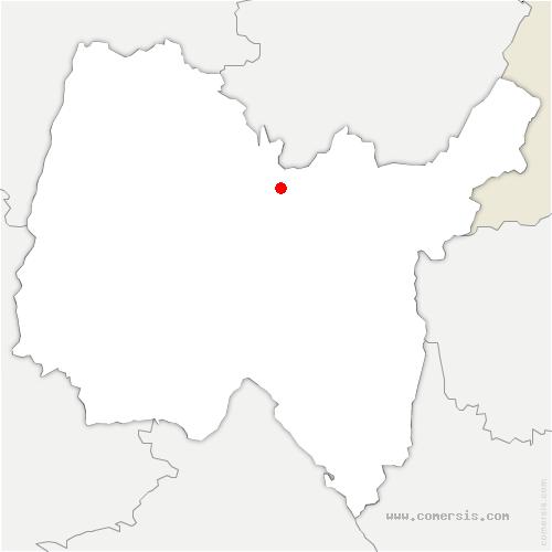 carte de localisation de Grand-Corent