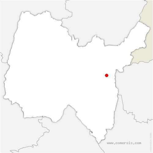 carte de localisation de Haut-Valromey