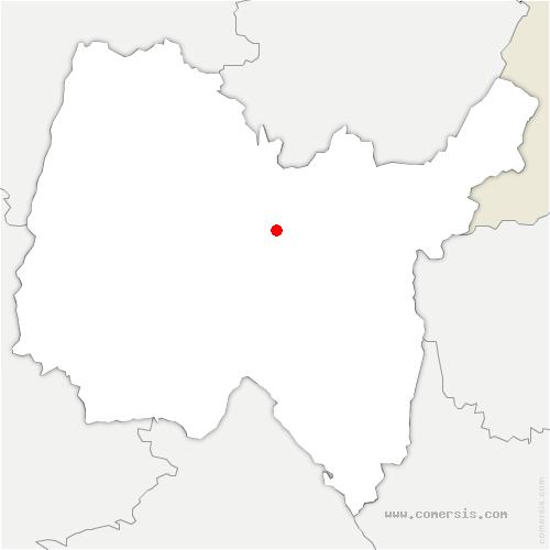 carte de localisation de Hautecourt-Romanèche
