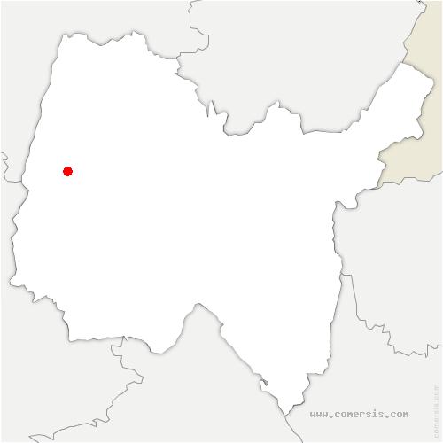 carte de localisation de Illiat
