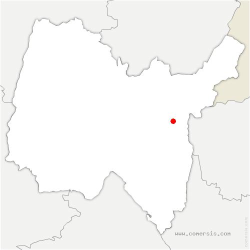 carte de localisation de Injoux-Génissiat