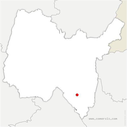 carte de localisation de Innimond