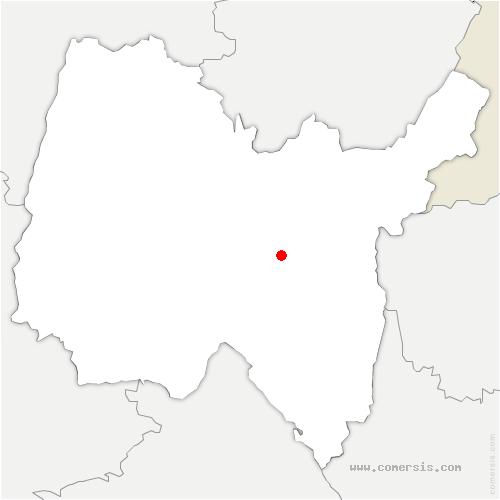 carte de localisation de Izenave