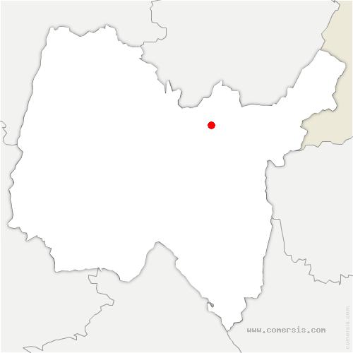 carte de localisation de Izernore