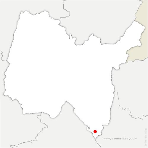 carte de localisation de Izieu