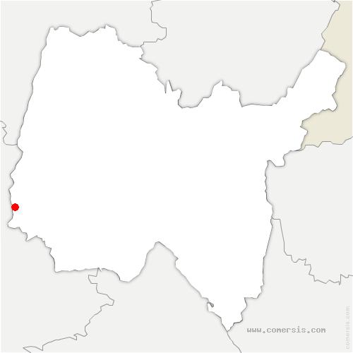 carte de localisation de Jassans-Riottier