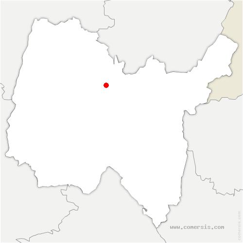carte de localisation de Jasseron
