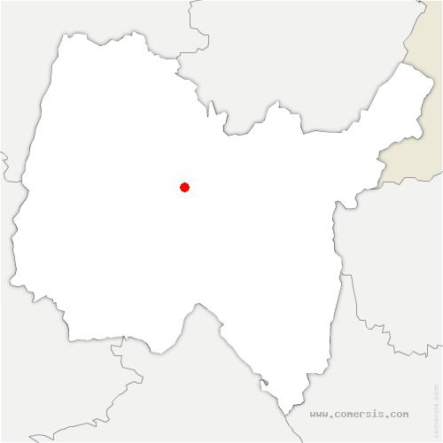 carte de localisation de Journans