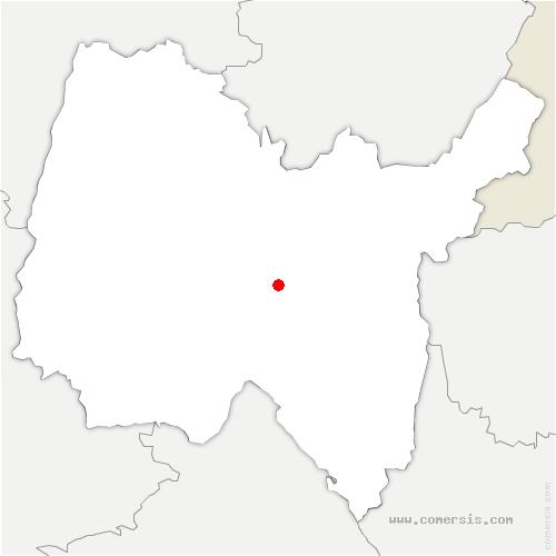 carte de localisation de Jujurieux