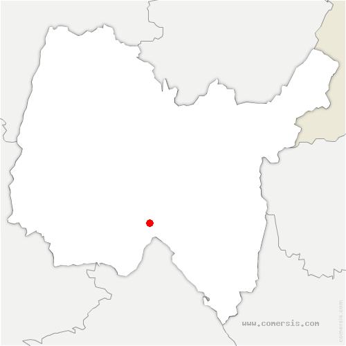 carte de localisation de Lagnieu