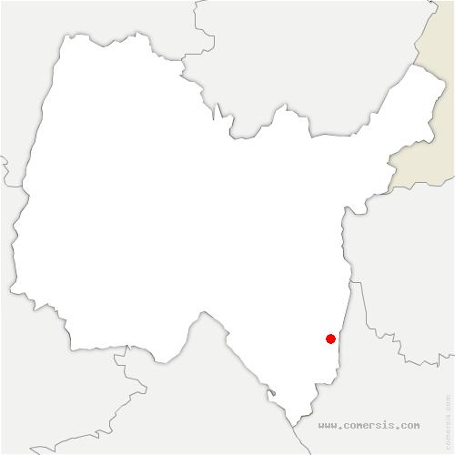 carte de localisation de Lavours