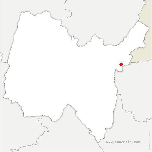 carte de localisation de Léaz