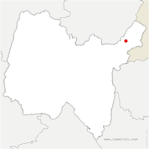 carte de localisation de Lélex