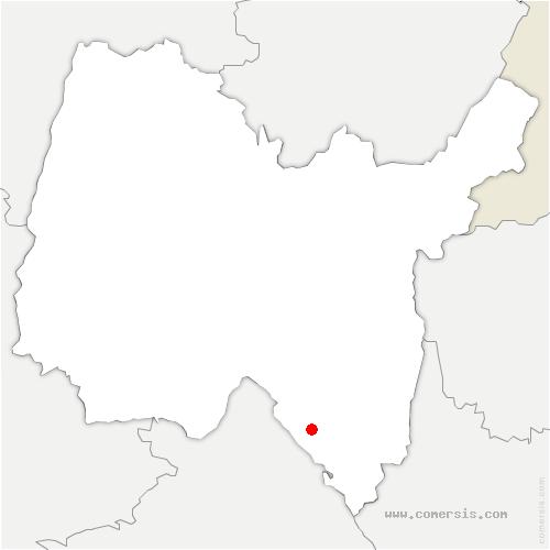 carte de localisation de Lhuis