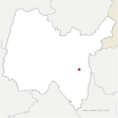 carte de localisation de Lompnieu