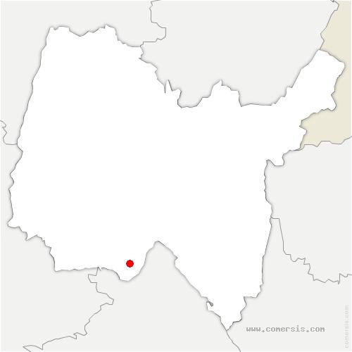 carte de localisation de Loyettes