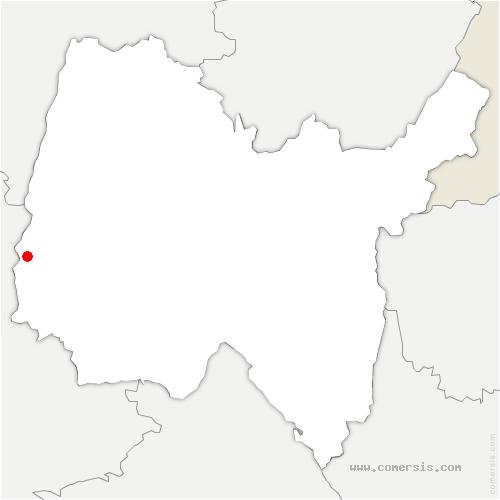 carte de localisation de Lurcy