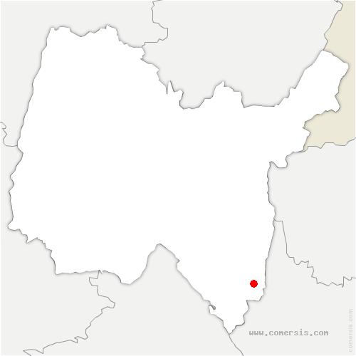 carte de localisation de Magnieu