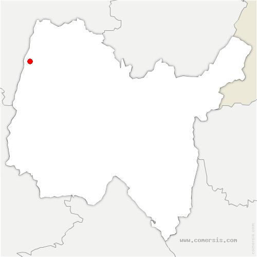 carte de localisation de Manziat