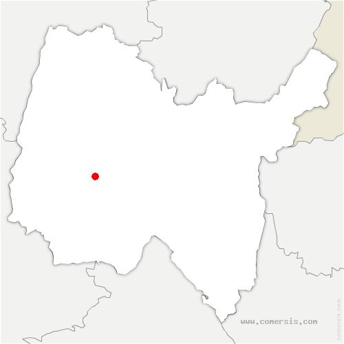 carte de localisation de Marlieux