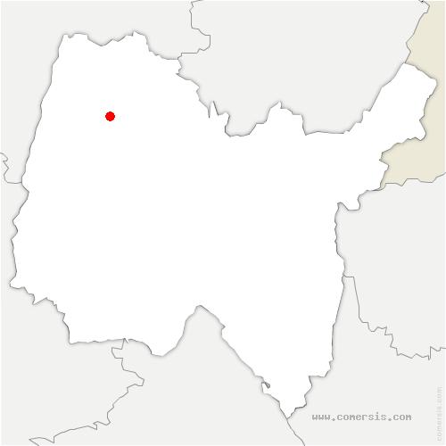 carte de localisation de Marsonnas