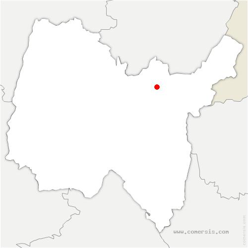 carte de localisation de Martignat